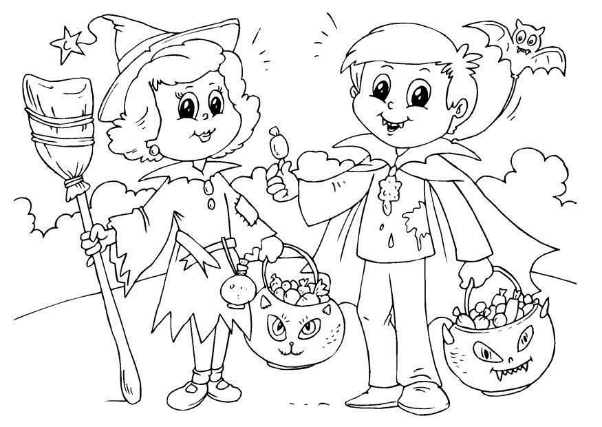 disegni da colorare halloween per bambini