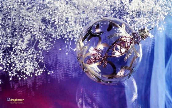 Immagine, decorazioni natalizie, palle colorate