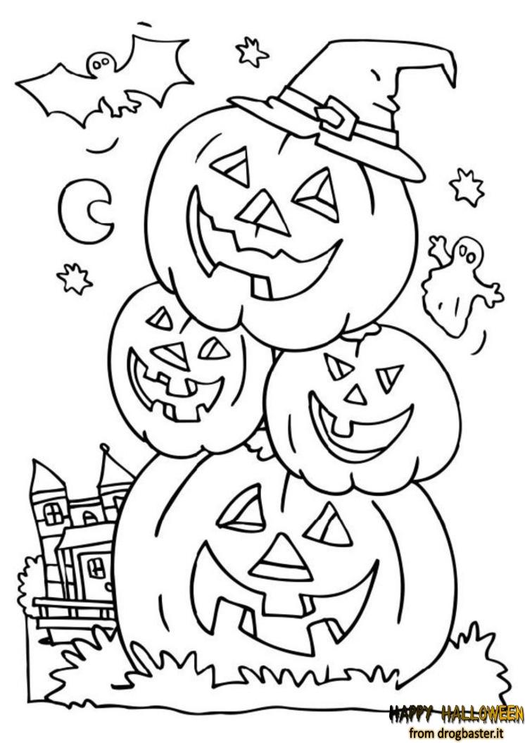 Disegni halloween per bambini da stampare e colorare for Immagini di clown da colorare