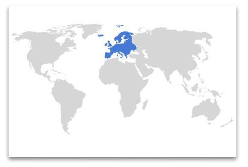 globo con continente Europa evidenziato