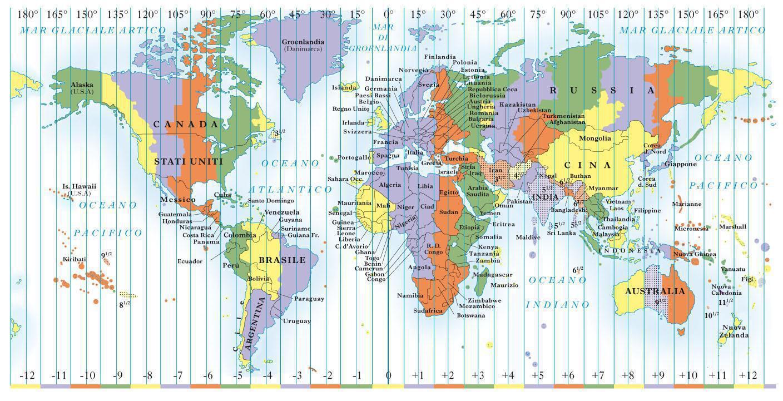 mappa fusi orari