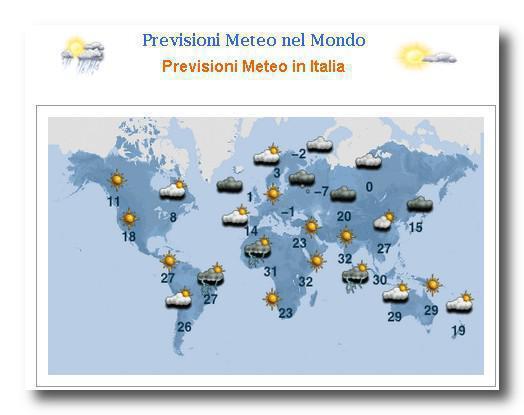 meteo nel mondo