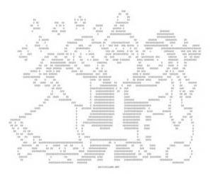 immagini in ASCII babbo natale