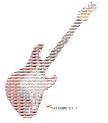 immagine di una chitarra musicale convertita in Ascii