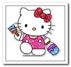 Hello Kitty che colora