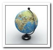 mappa mondo in miniatura hd