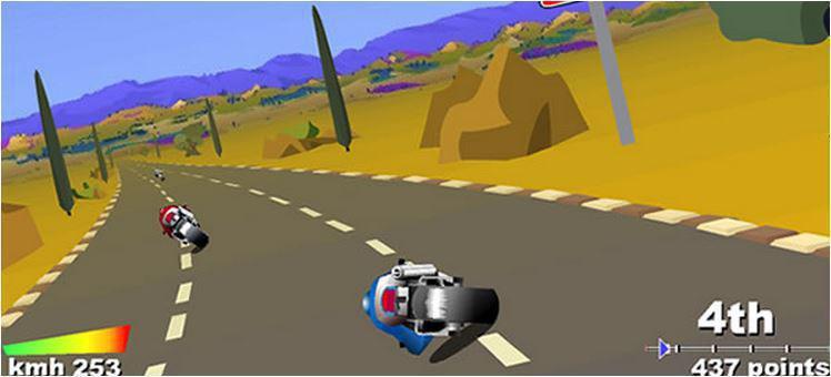 screenshots gioco Corse Motorbike