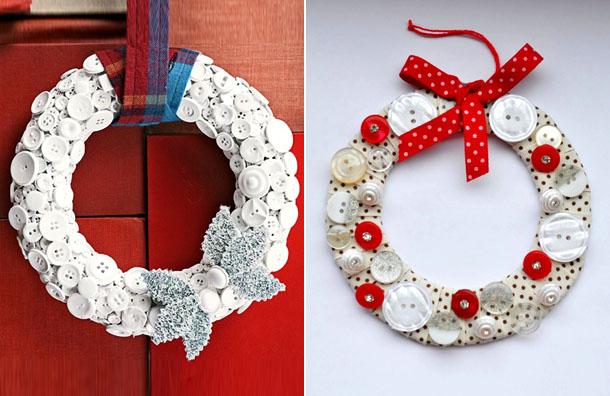 Lavoretti decorazioni addobbi natalizi fai da te - Addobbi natalizi per la porta ...