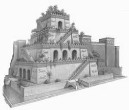 I giardini pensili di babilonia sette meraviglie del for Disegno giardini