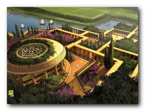 Giardini pensili di Babilonia vista dall'alto