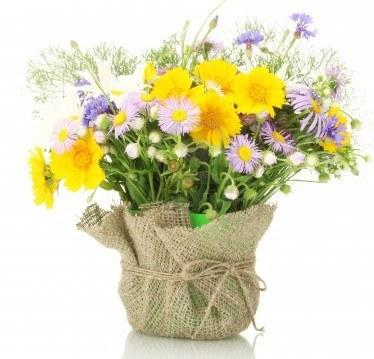 cesto di fiori colorari da regalare alla mamma