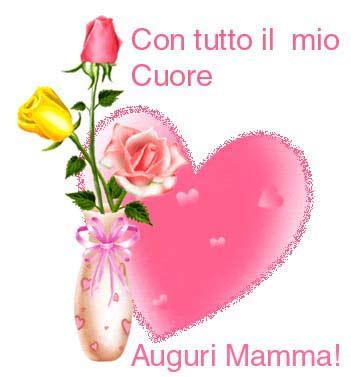 rose con il cuore per la festa della mamma