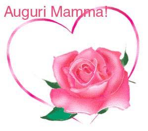 Auguri Mamma con rosa