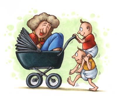 Clipart di bimbi che giocano con la mamma