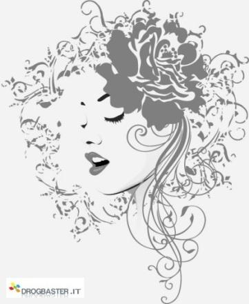 viso di mamma con una rosa nei capelli  immagini bianco e nera
