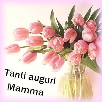 Vaso con Tulipani per augurio della festa della mamma