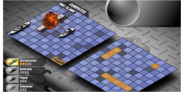 screenshots gioco Battaglia Navale
