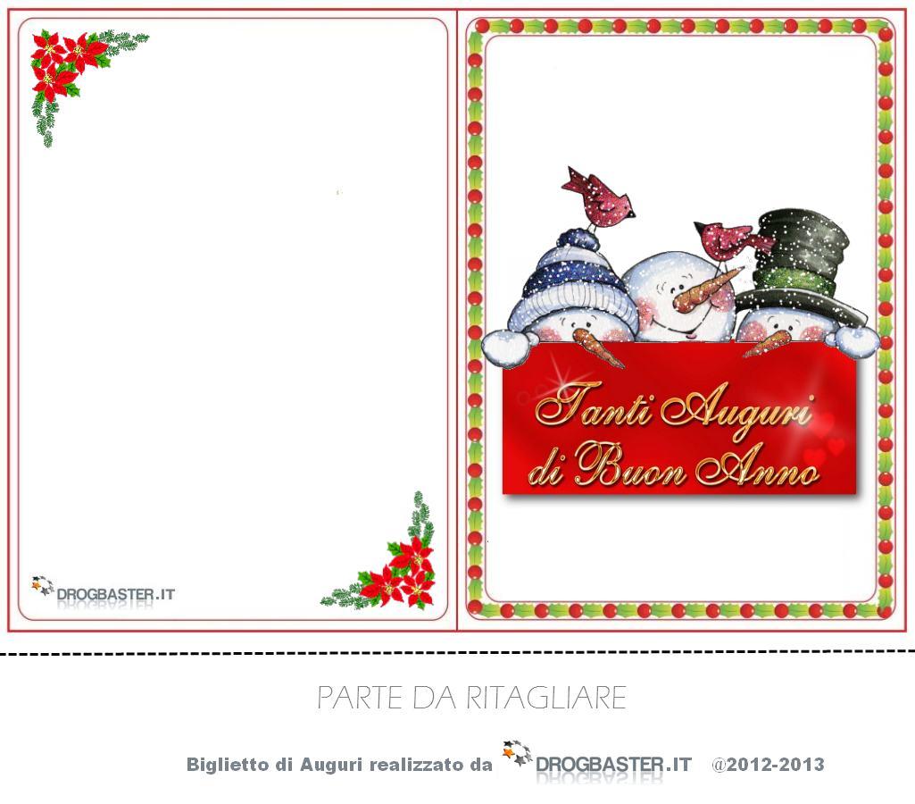 Favorito Biglietti di Natale da stampare gratis per auguri di Buon Natale ZV72