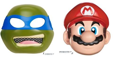 maschere per bambini Leonardo e Mario Bros