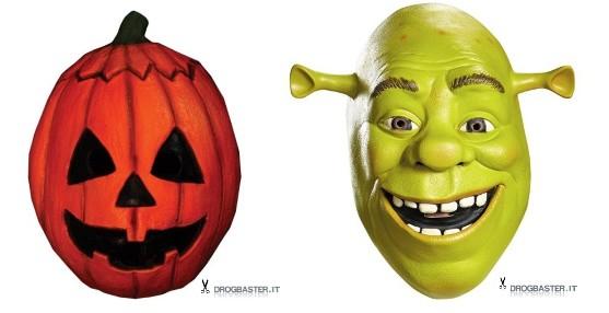 maschere per bambini zucca e Shrek