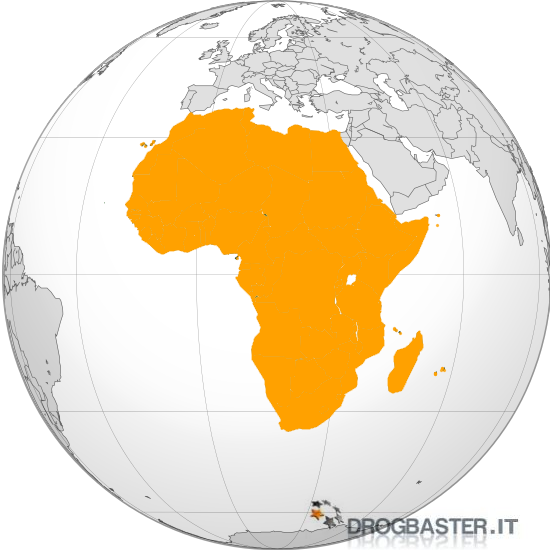 posizione africa nel globo terrestre