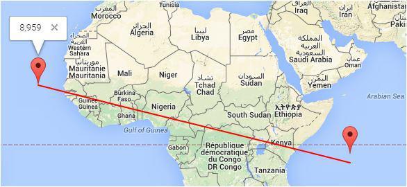 distanza tra  Capo Verde e Seychelles