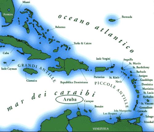 mappa America isole