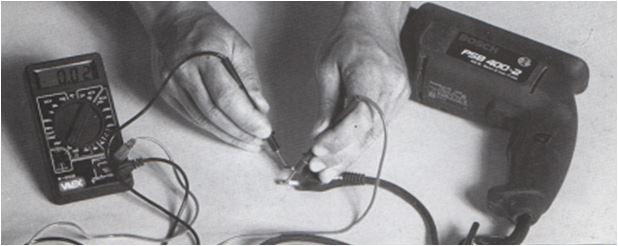 uso del tester: prova apparecchi elettrici