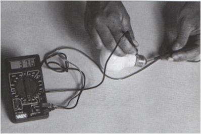prova della lampadina utilizzando il tester