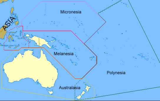 mappa oceania