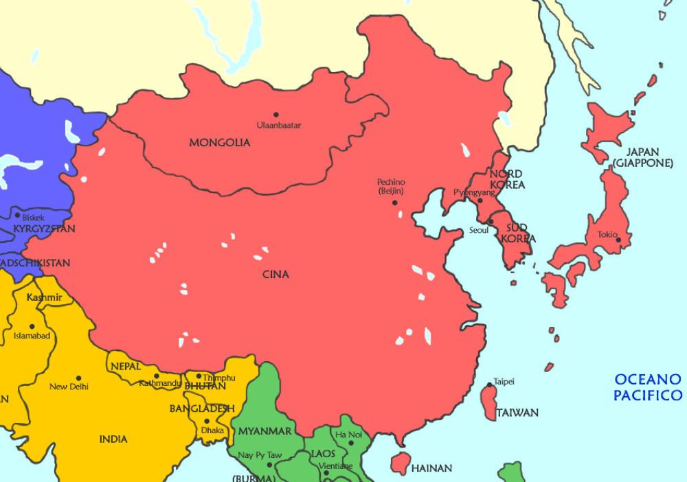 Cartina Dell Asia Orientale.Stati Dell Asia Elenco Dei Paesi Asiatici