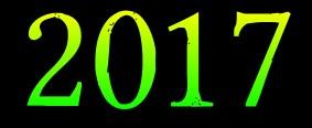 scritta anno 2017 sfondo nero  testo color verde