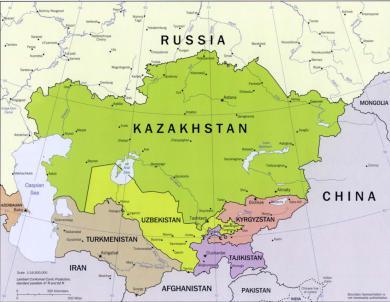 mappa Asia Centrale