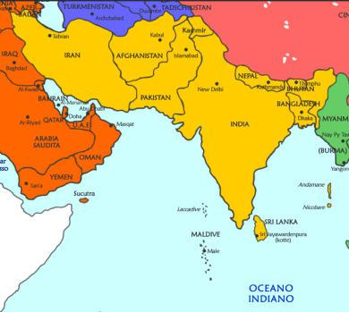 mappa Asia Meridionale