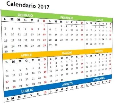 modelli calendario 2017 trimestrale
