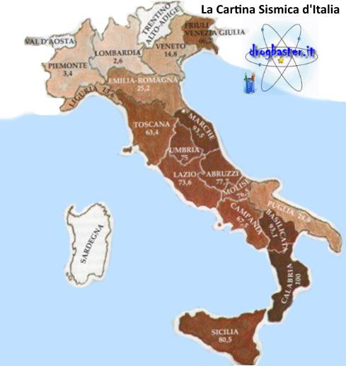 Cartina sismica territorio Italiano