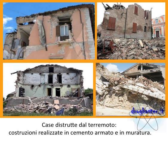 edifici in muratura e cemento armato distrutti dal terremoto