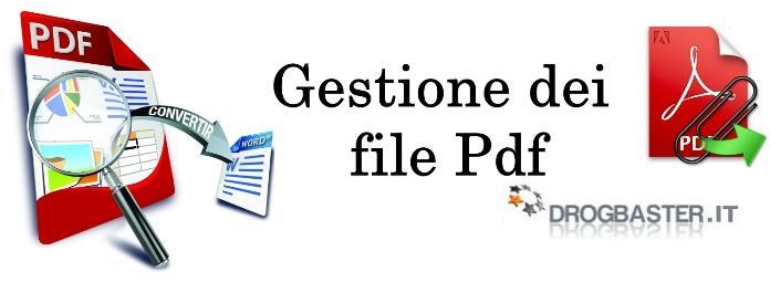 Gestione dei file PDf