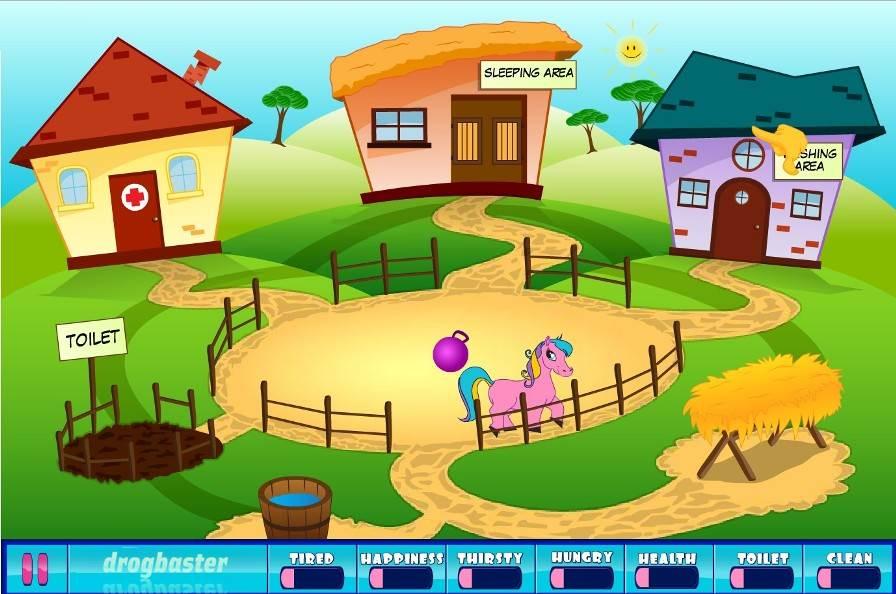 pony nella fattoria