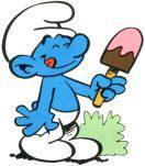 puffo goloso mangia un gelato