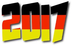 scritta colori bandiera Germania