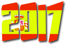 scritta 2017 formato bandiera Spagna