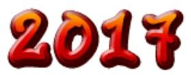 scritta 2017 in cifre per progetti
