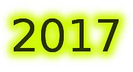 scritta anno in cifre fosforescente