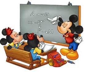 topolino insegna a scuola