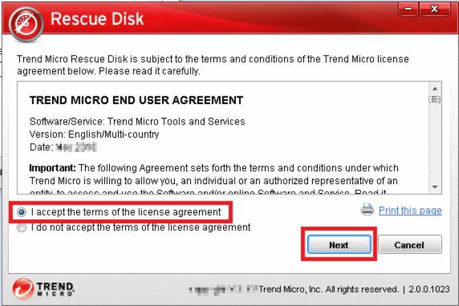 Trend Micro Rescue Disk