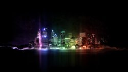 paesaggio tridimensionale sfondo tablet ipad