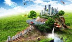sfondo futuristico città