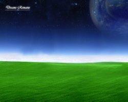 collina verde cielo blu