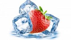 sfondo arte grafica ghiaccio e fragole